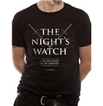 Game Of Thrones - Nights Watch - Camiseta Unisex Preta