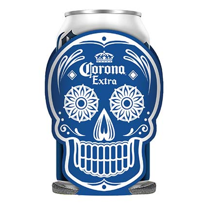 Koozie Corona Dia Dos Mortos Glow In The Dark