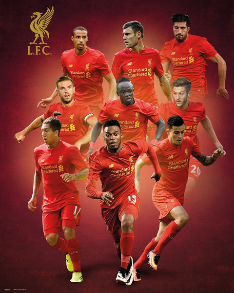 Mini Póster Liverpool Players 16/17