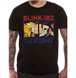 Blink 182 - California Album - Camiseta Unisex Preta