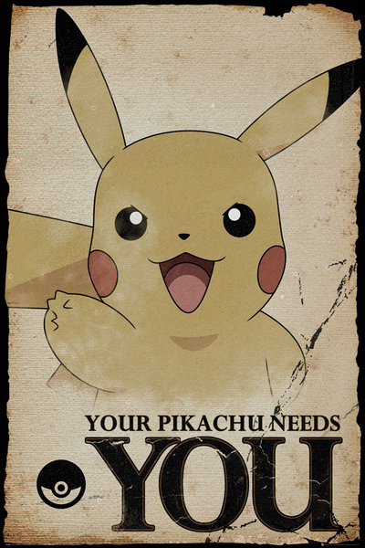 Póster Pokémon Pikachu Needs You