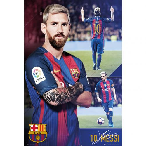 Póster FC Barcelona Messi Collage 63