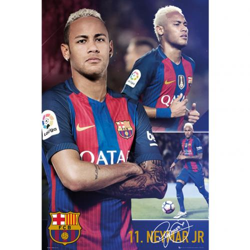 Póster FC Barcelona Neymar Collage 66