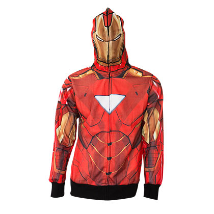 Moletom Iron Man Full Zip Costume
