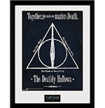 Póster Moldurado Harry Potter - The Deathly Hallows -30x40 Cm