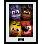 Póster Moldurado Five Nights at Freddy's - Quad 30x40 Cm