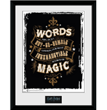 Póster Moldurado Harry Potter - Words 30x40 Cm