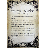 Póster Death Note - Rules - 61x91,5 Cm