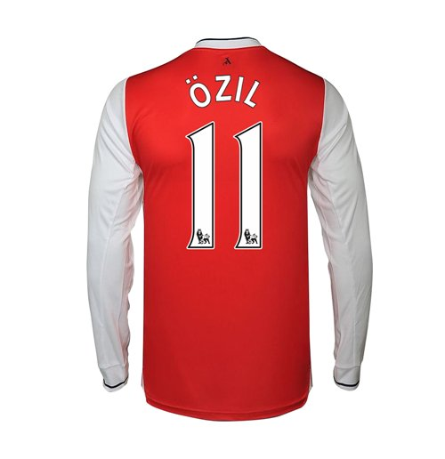 Camiseta Manga Longa Arsenal Home 2016/17 (Ozil 11)