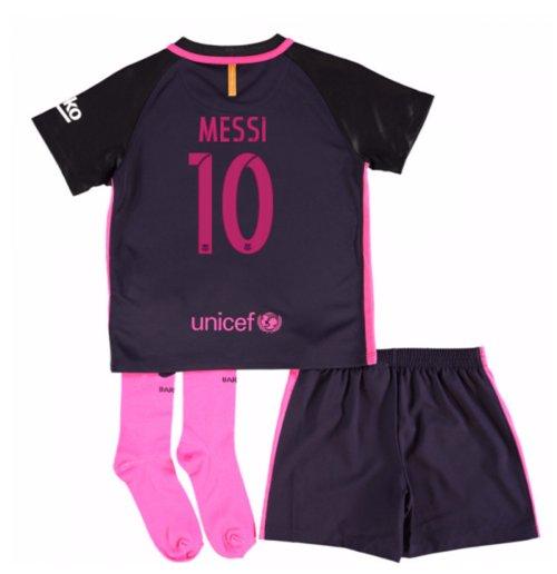 Compra Camiseta Barcelona Away 2016 17 de criança com patrocinadores ... 3053335de5c12