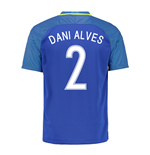 Camiseta Brasil Away 2016/17 (Dani Alves 2)