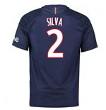 Camiseta Paris Saint-Germain 2016-2017 Home (Silva 2) de criança