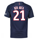 Camiseta Paris Saint-Germain 2016-2017 Home (Ben Arfa 21) de criança