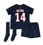 Mini conjunto Paris Saint-Germain 2016-2017 Home (Matuidi 14)