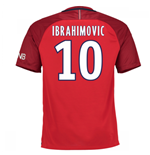 Camiseta Paris Saint-Germain 2016-2017 Away (Ibrahimovic 10) de criança