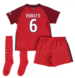 Mini conjunto Paris Saint-Germain 2016-2017 Away (Verratti 6)