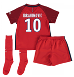 Mini conjunto Paris Saint-Germain 2016-2017 Away (Ibrahimovic 10)
