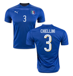 Camiseta Itália Home 2016/17 (Chiellini 3)