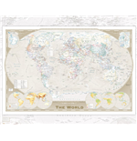 Poster World map 257913