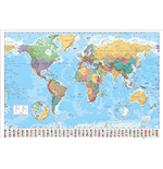 Poster World map 257917