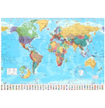 Poster World map 257918