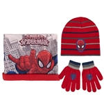Pack gorro luvas e gorro Spiderman