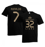 Camiseta Real Madrid (Preto)
