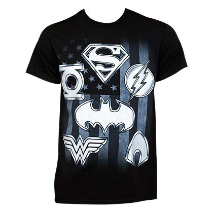 Camiseta Justice League Superhero Logo