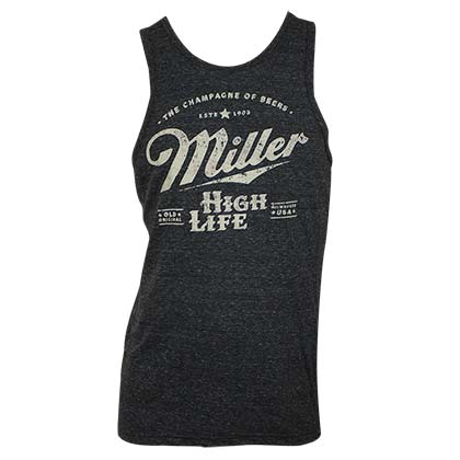 Camiseta de suspensório Miller Beer Distressed Logo
