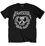 Camiseta Killswitch Engage de homem - Design: Skull Spraypaint