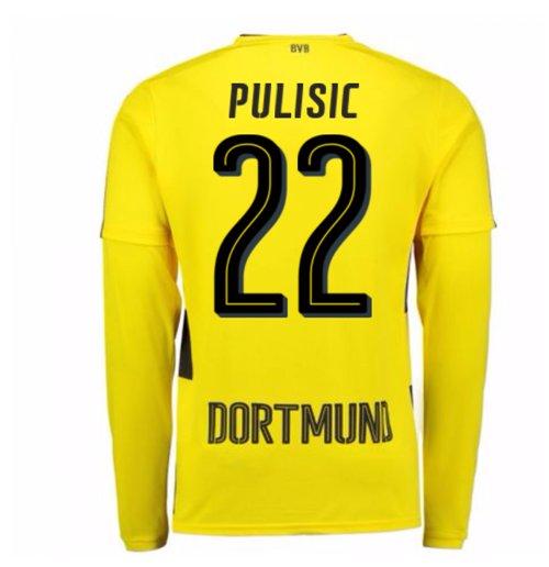 Camiseta Manga Longa 2017 18 Borussia Dortmund 2017-2018 Home (Pulisic 22) 55132d0275b00