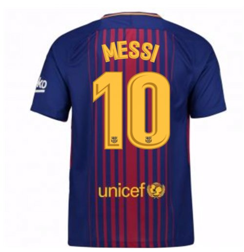 Camiseta FC Barcelona 2017-2018 Home (Messi 10)