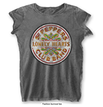Camiseta Beatles de mulher - Design: Sgt Pepper Drum