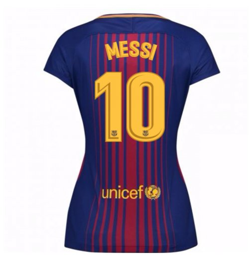 09b596d3065 Camiseta FC Barcelona 2017-2018 Home (Messi 10) de mulher