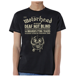 Camiseta Motorhead de homem - Design: Deaf Not Blind