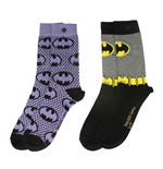 DC Comics Pack de 2 Pares de meias Pequena Batman Purple