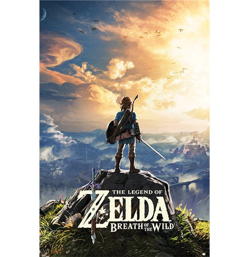 compra p ster the legend of zelda breath of the wild sunset 61 x 91 5 cm. Black Bedroom Furniture Sets. Home Design Ideas