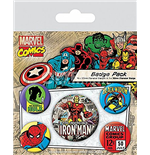 Pack Chapinhas Marvel Retro - Iron Man