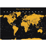 Poster World map 272371