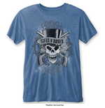 Camiseta Guns N' Roses de homem - Design: Faded Skull