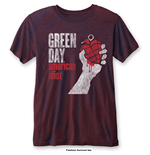 Camiseta Green Day de homem - Design: American Idiot Vintage