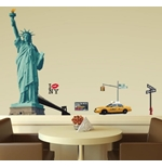 Vinil decorativo para parede New York 274643