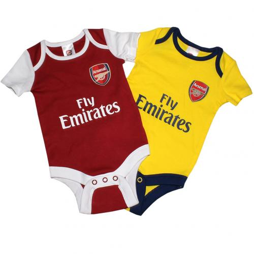 Pack Body de bebê Arsenal 3/6 meses