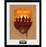 Póster Enmarcado Call Of Duty Wwii - Shield - 30x40