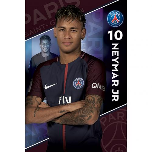 Póster Paris Saint-Germain Neymar 10
