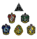 Harry Potter Pack de 6 Logos Escudos das Casas
