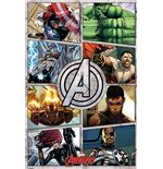 Póster The Avengers - Comic Panels - 61X91,5 Cm