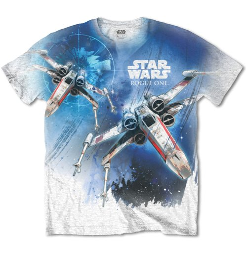 Camiseta Star Wars de homem - Design: Rogue One X-Wing