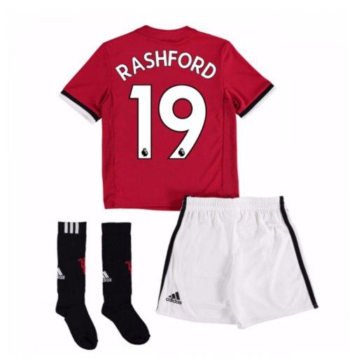 Uniforme de futebol para criança Manchester United FC 2017-2018 Home  (Rashford 19) 4a64341b1dee8