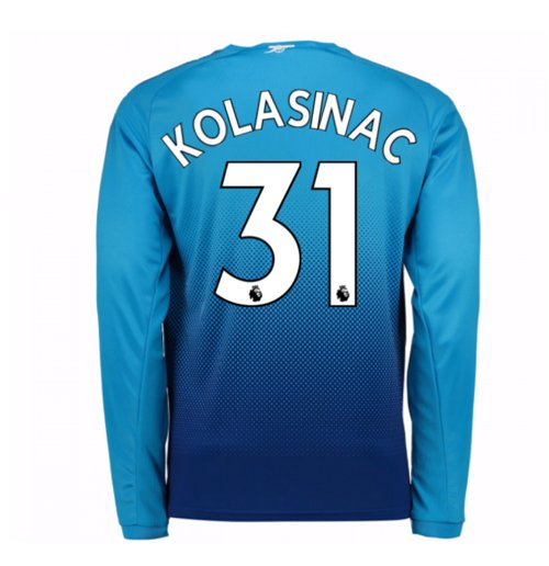 Camiseta Manga Longa 2017/18 Arsenal 2017-2018 Away (Kolasinac 31)